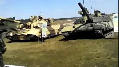 Украинские танки «Оплот» и «Булат» на полигоне «Десна». ВИДЕО