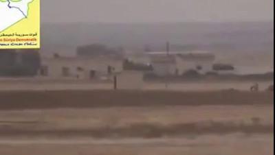 Сирия.Уничтожение смертника ДАИШ на заминированном авто курдскими отрядами народной самообороны(YPG)