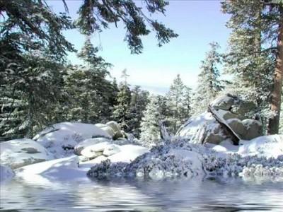Белая ПЛАНЕТА под ЦВЕТНЫМ снегом.