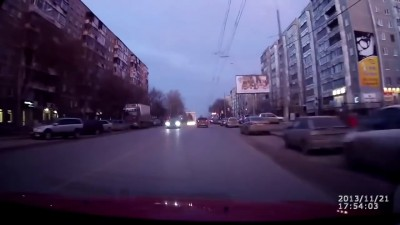 Сработала защита от проезда на красный свет