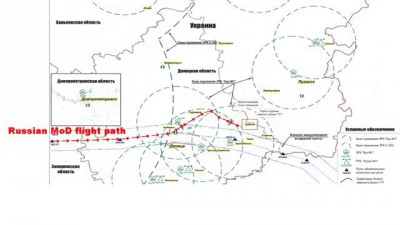 Flight Path of MH17 Compared to Russian Ministry of Defence Claims