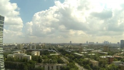 Таймлапс шторма в Москве