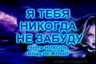 Я ТЕБЯ НИКОГДА НЕ ЗАБУДУ - Нэтти Николь, Влад НЕЖНЫЙ