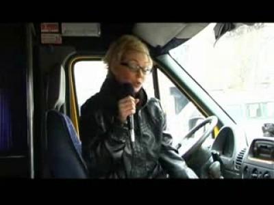 Конфликт маршрутчиков и пассажиров в Днепропетровске