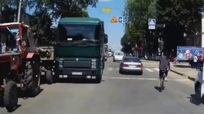 Авария на дороге с фурой в Виннице 14 07 2014 ДТП