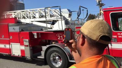 Прибытие пожарных