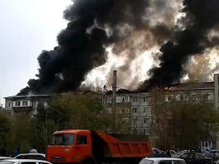 Пожар в Актобе