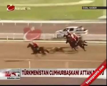 Президент Туркмении упал с лошади во время скачек