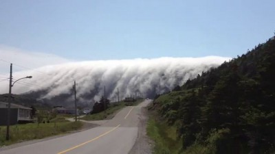 Туман сходит с гор