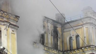 Пожар. Поликлиника №7 г. Луганск