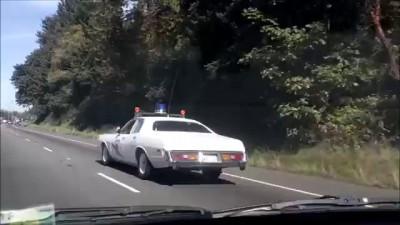 washington state patrol vintage car