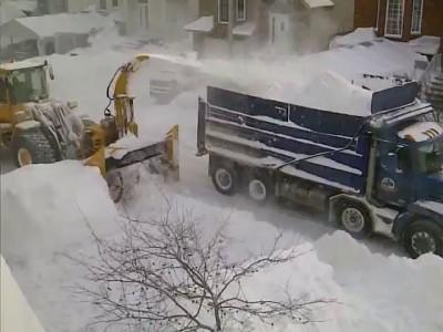 Уборка снега в Канаде