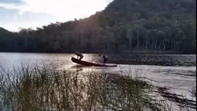 скачущая лодка