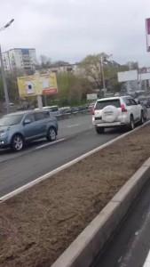 неадекватный водитель Prado