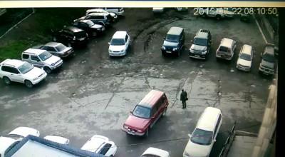 Прадо на парковке