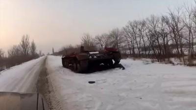 Донецкий аэропорт 15 января. Воздушная разведка. АРМИЯ SOS