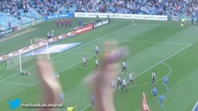 Del Piero's first goal for Sydney FC- Sublime Freekick