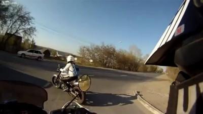 Сракер и мотоцикл