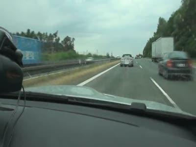 Преследование прототипов BMW на автобане