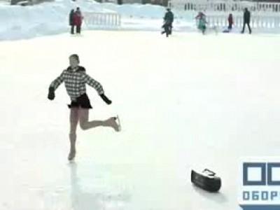 Невероятные выкрутасы на льду!