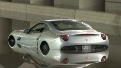 $300K Ferrari Abandoned in Toronto Flood, 8 July 2013