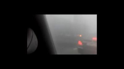 Авария в дыму