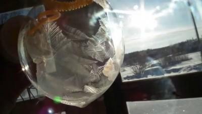 Мыльный пузырь при -30