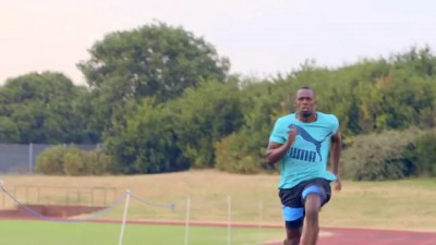 Usain Bolt Prepares for Moscow