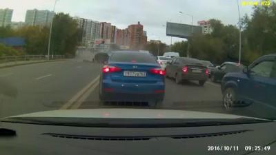Массовое ДТП Самара Ново-садовая 11 октября 2016