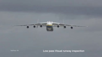 Giant Antonov An-225 Mriya visiting England | Гигант неба Ан-225 Мрия прилёт в Англию