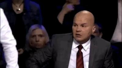Скандал!!! Кот бьет политолога Ковтуна! Ток шоу 'Процесс', телеканал 'Звезда' 26.05.