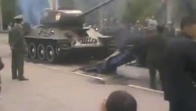 Погрузка Т-34