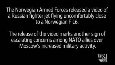 Russian Fighter Jet in Near Miss with NATO F-16