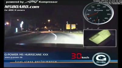 На BMW M5 со скоростью 359 km/h