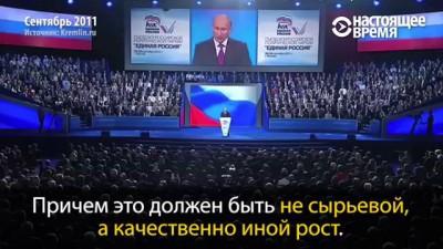 """Что обещала """"Единая Россия"""" пять лет назад. Путин и Медведев на XII съезде «Единой России»"""