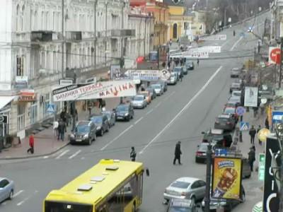 Водителей достал кортеж Януковича