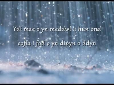 Glaw - Meinir Gwilym (geiriau / lyrics)