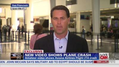 Видео посадки В777 от CNN