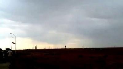 Очевидцы сняли крушение ракеты Протон-М на Байконуре
