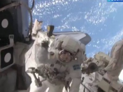 Первый полет Д. Медведева в космос. Прямое включение с МКС.