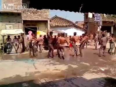 Street dancing was going well until...