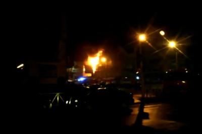 г.Рязань. Пожар на рынке ПОЛЕТАЕВСКИЙ 10.10.2014