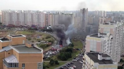 Взрыв автомобиля на Братиславской