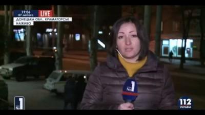 В Авдеевке местные жители напали на украинских журналистов.Украина,АТО,ДНР.