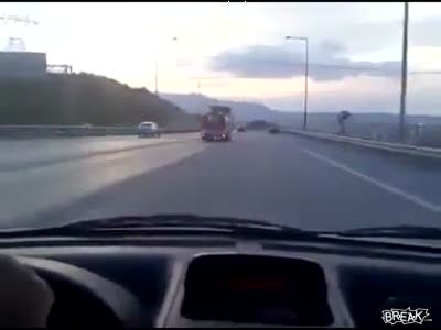 Crazy 85 MPH Moped Stunt