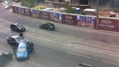 Стрельба в центре Киева. Запись очевидца