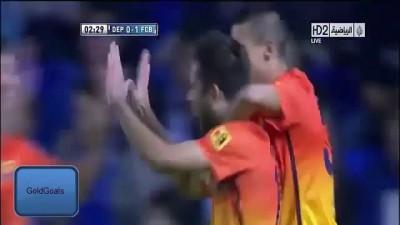 Deportivo La Coruna 4 - 5 Barselona all goals and highlights [HD]