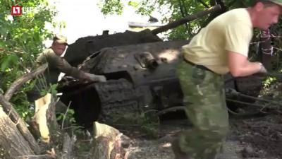 В Воронеже на дне реки нашли танк T-34-76