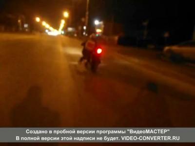 Ростовский лихач на мотоцикле