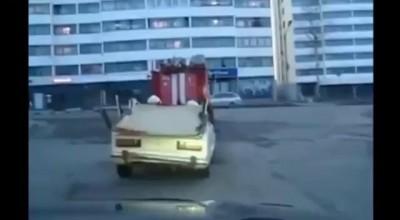 Пожарный купил машину .